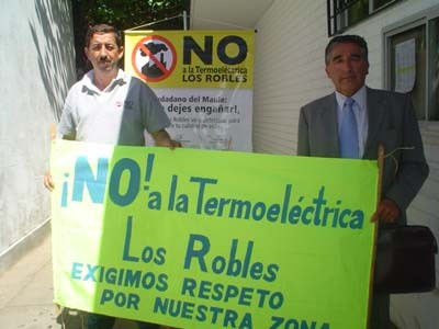 No a la termoelectrica